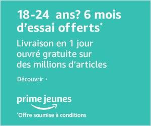 Avec Amazon Prime pour les jeunes profitez de tous les avantages de livraison mais aussi de Prime Video et bien d'autres avantages